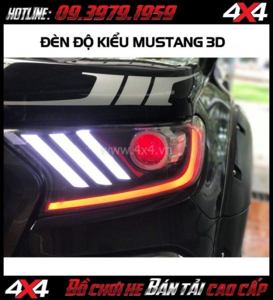 Photo đèn Ford Mustang 3 sọc thẳng lắp đẹp và ngầu cho xe pick-up Ford Ranger tại Tp.HCM