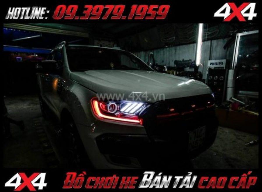 Hình ảnh độ đèn Ford Ranger: Đèn mắt quỷ mid led kieur Ford Mustang đẹp và ngầu