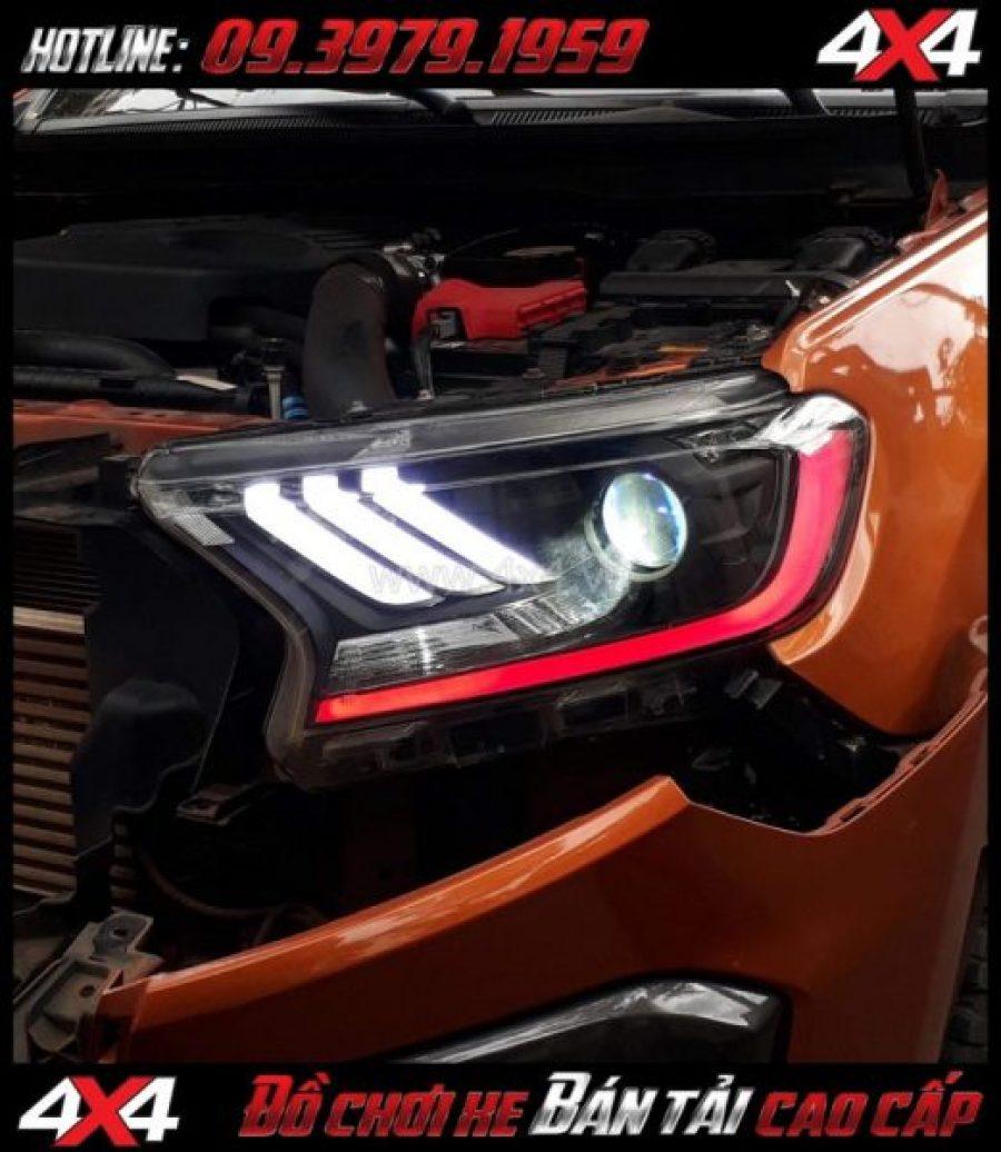 Picture: Combo Đèn mắt quỷ, mí led, vòng Angel eyes mẫu Ford Mustang 3D lắp đẹp và nổi bật cho xe off road Ford Ranger 2019 2018 ở Tp Hồ Chí Minh