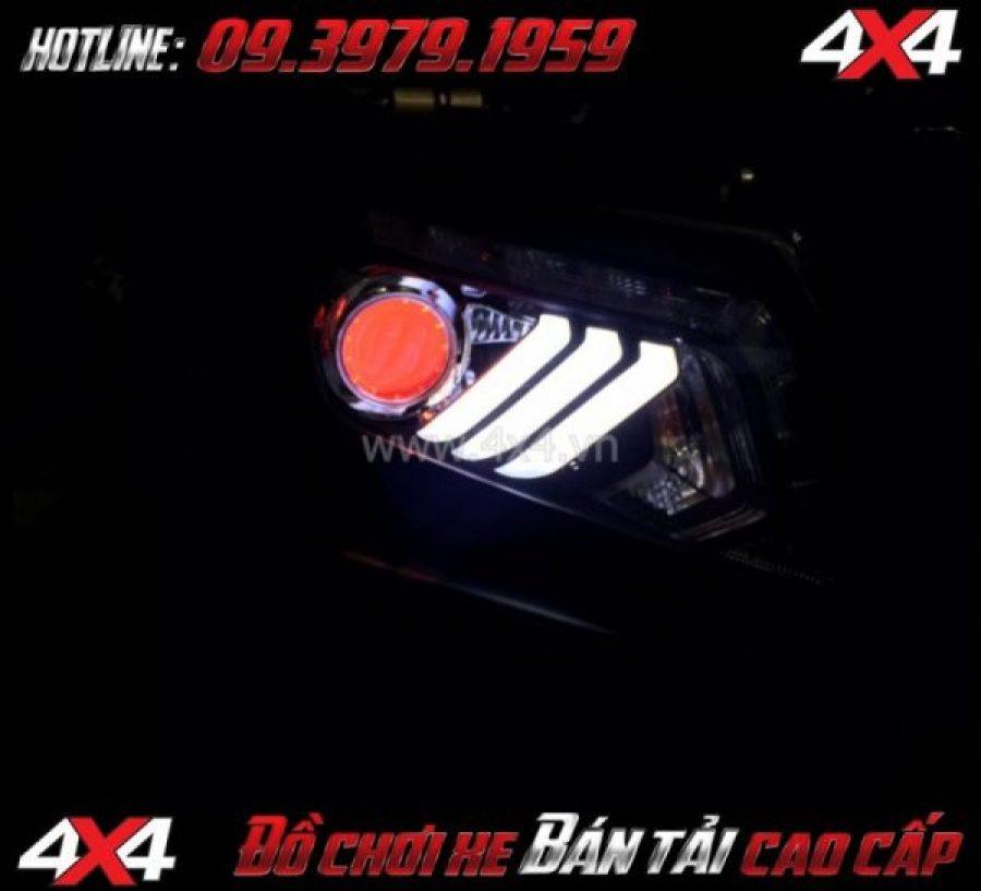 Image Đèn mắt quỷ Devil độ đẹp và nổi bật cho xe Ford Ranger 2019 2018 tại Sài Gòn