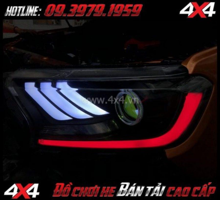 Tấm ảnh Combo Đèn mắt quỷ, mí led, vòng Angel eyes mẫu Ford Mustang 3D gắn đẹp và đẹp cho xe off-road Ford Ranger 2019 2018 ở Tp Hồ Chí Minh