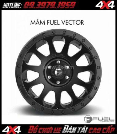 Bức ảnh Mâm xe ô tô cứng cáp: Mâm Fuel One Piece Vector D579 dành cho xe bán tải và SUV