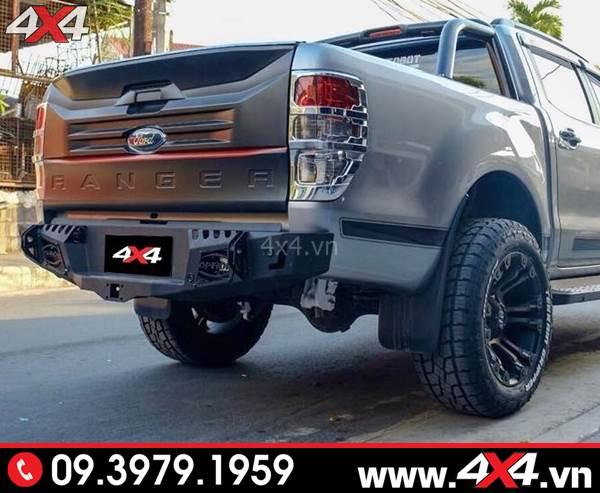 Đồ chơi xe Ford Ranger: Cản sau Ford Ranger Option 4wd độ cứng cáp, đẹp và chất