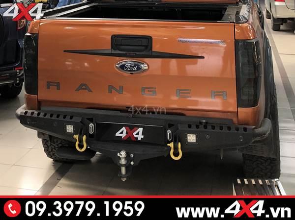 Đồ chơi xe Ford Ranger: Cản sau Option cứng cáp và độ đẹp cho xe Ford Ranger Wildtrak