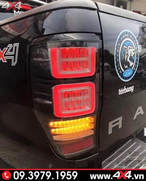 Đồ chơi xe Ford Ranger: Đèn hậu đuôi sau độ kiểu Range Rover 2018 mới