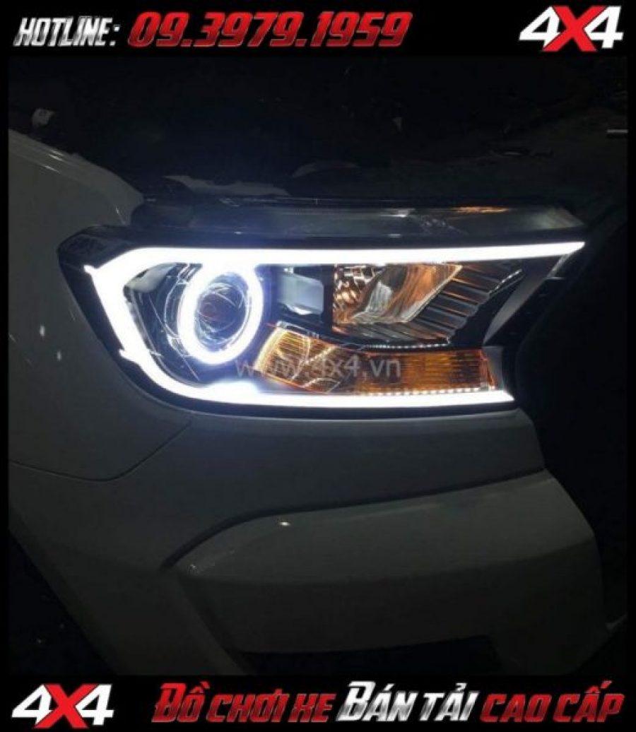 Hình ảnh cách tăng độ sáng cho Ford Ranger 2019: Độ Bi Xenon giúp tăng sáng đèn trước hiệu quả nhất cho xe off road Ford Ranger 2018 2019