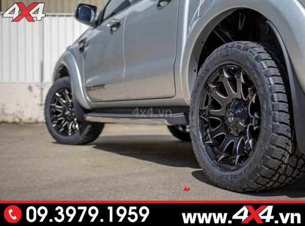 Đồ chơi xe Ford Ranger: Chiếc bán tải Ford Range gắn mâm Fuel Battle Axe đẹp, chất và cứng cáp