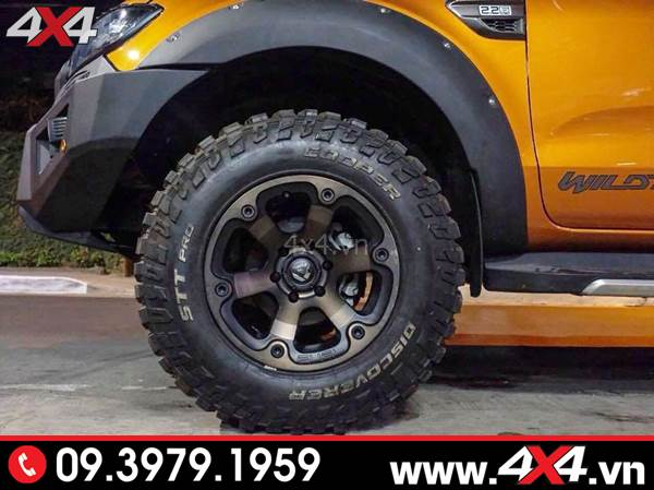 Đồ chơi xe Ford Ranger: Mâm Fuel Beast đẹp, cứng cáp độ xe bán tải Ford Ranger