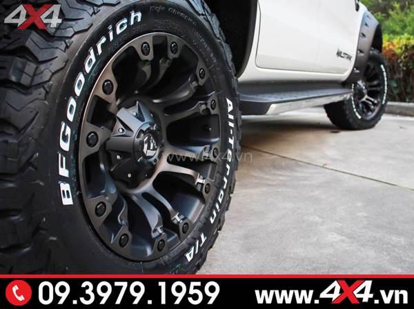 Đồ chơi xe Ford Ranger: Mâm Fuel Vapor màu đen cứng cáp độ đẹp cho xe Ford Ranger