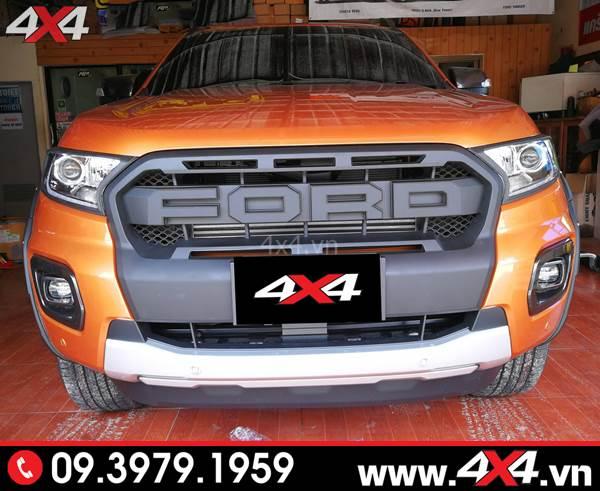 Mặt calang Ford Ranger: Chiếc bán tải Ford Ranger cam độ mặt calang kiểu Ranger Raptor cực đẹp