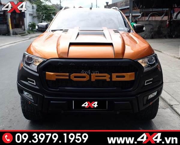 Đồ chơi xe Ranger: Ốp nắp capo độ đẹp, ngầu và chất dành cho xe bán tải Ford Ranger