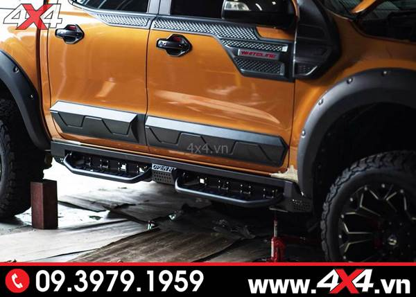 Đồ chơi xe Ford Ranger: Ốp sườn bản nhỏ đẹp gắn hài hòa cho xe Ford Ranger 2018 2019
