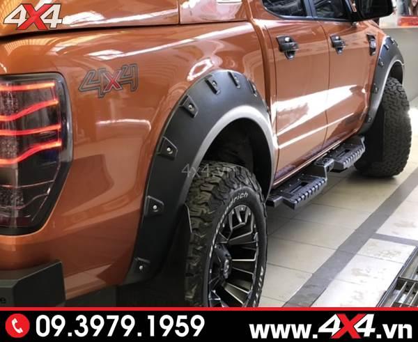 Bệ bước chân Ford Ranger: Gắn thêm bệ bước Open xe Ford Ranger sẽ đẹp và cứng cáp hơn nhiều