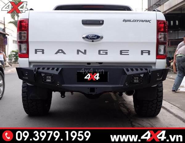 Cản sau độ Ford Ranger: Cản Option 4WD độ đẹp, cứng cáp và chất cho xe bán tải