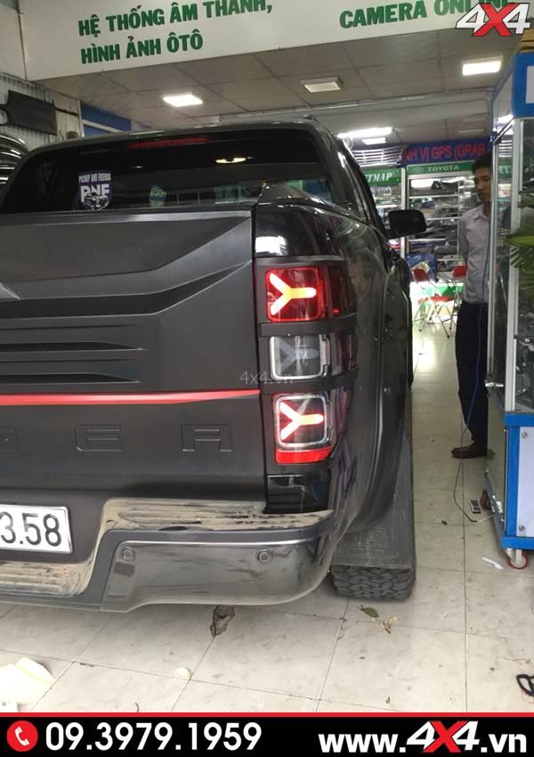 Đèn đuôi xe Ford Ranger độ đẹp với kiểu Lamborghini