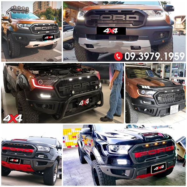 Body kit Ford Ranger Raptor Raptor độ đẹp và hầm hố dành cho XLT, XLS, Wildtrak