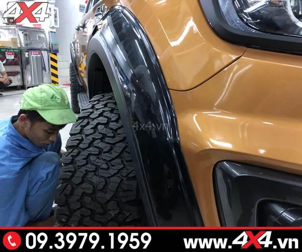 Lốp xe Ford Ranger độ: Lốp BFGoodrich AT All-Terrain dùng cho mọi dạng địa hình