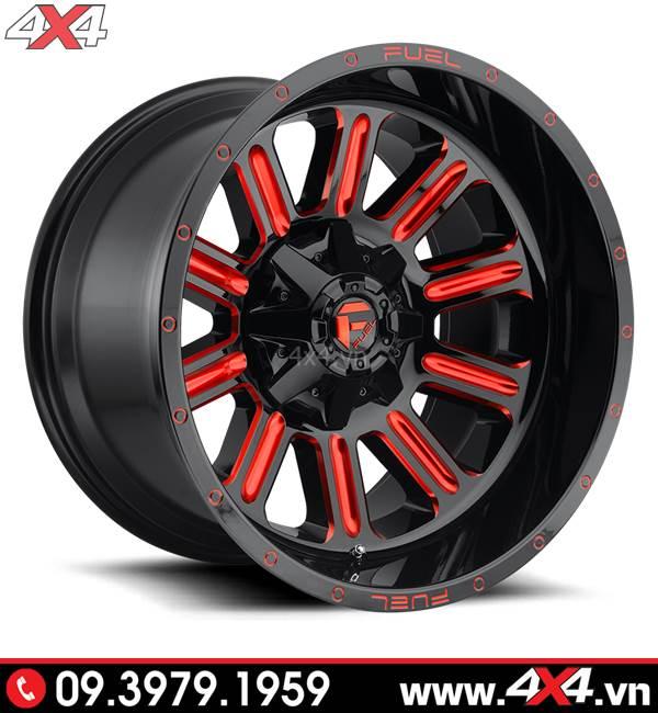 Lazang độ cho Ford Ranger: Mâm Fuel Hardline màu đỏ đẹp và độ nổi bật cho xe bán tải