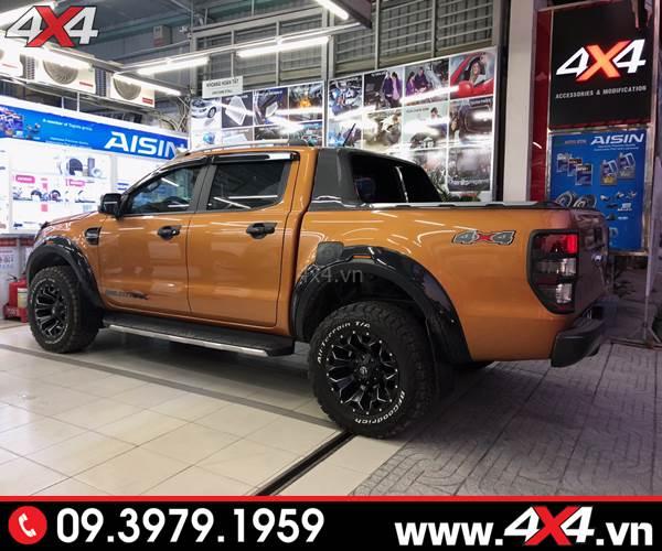 Ốp viền bánh xe Ford Ranger FITT Thái Lan loại trơn độ đẹp và chất cho xe Ford Ranger
