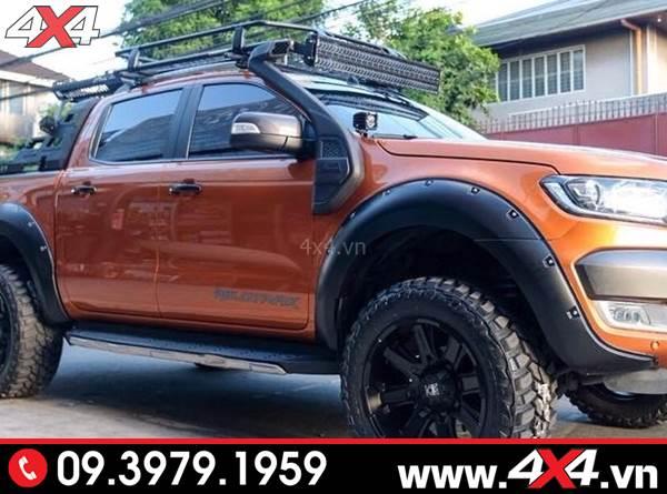 Chiếc bán tải Ford Ranger độ ống thở cho Ford Ranger cực đẹp, ngầu và cứng cáp
