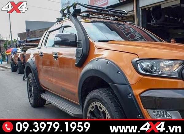 Chiếc bán tải Ford Ranger độ đẹp và hầm hố với nhiều món đồ chơi độ và ống thở cho Ford Ranger