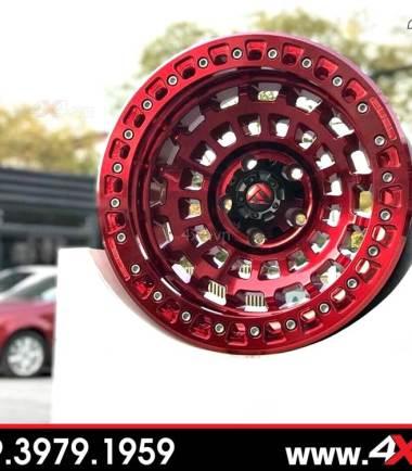 Mâm Fuel Zephyr màu đỏ độ đẹp cho xe bán tải