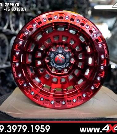 Mẫu mâm Fuel Zephyr màu đỏ nổi bật độ đẹp cho xe bán tải Ranger Raptor