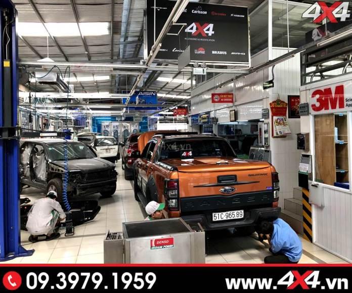 Xưởng độ xe bán tải Ford Ranger 4x4 tại HCM