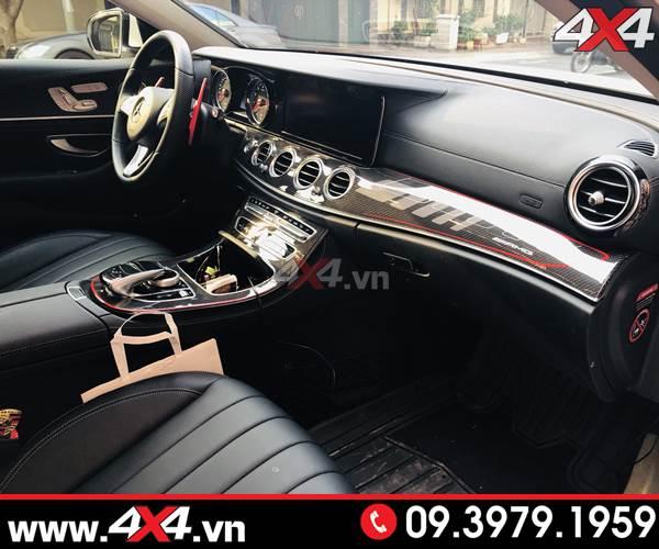 Mercedes C200 C300 độ ốp điều khiển trung tâm full carbon fiber đẹp và sang trọng