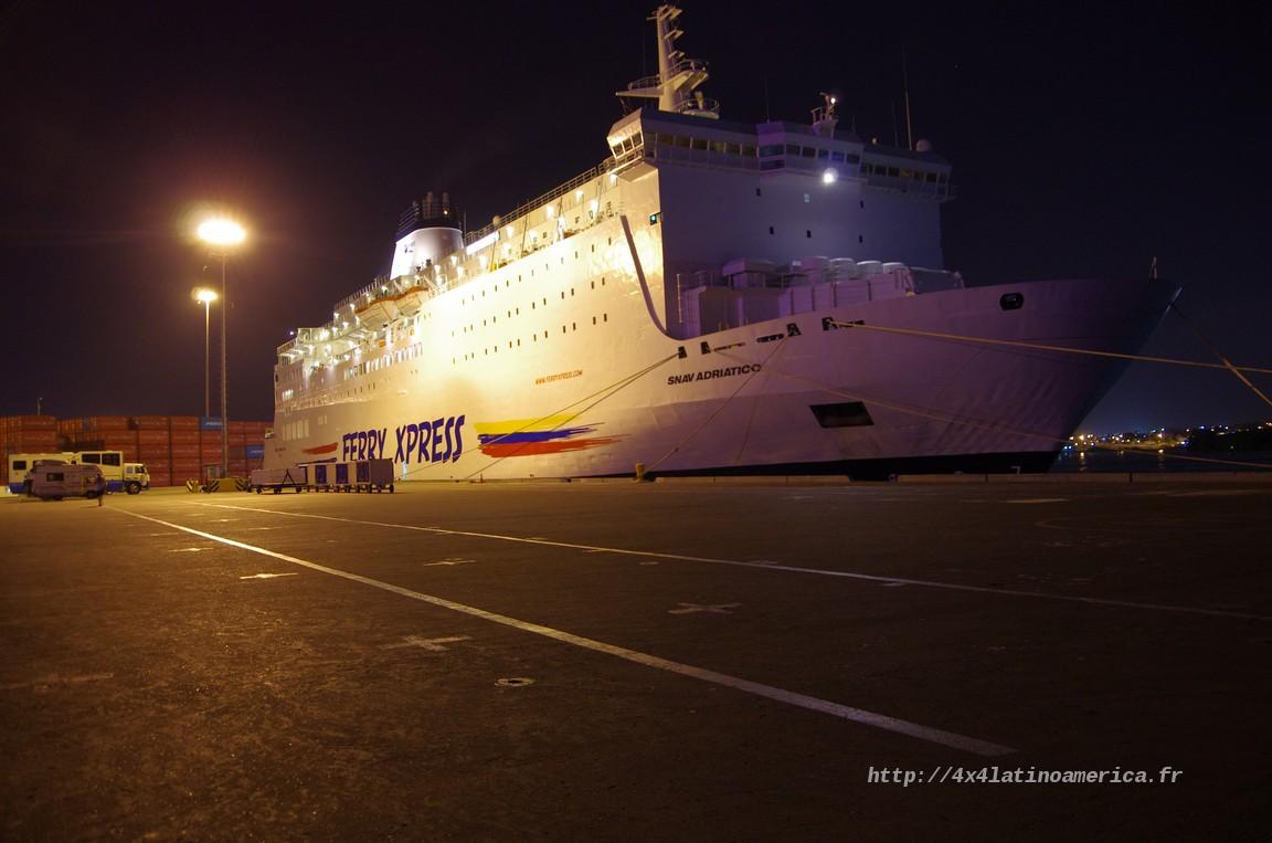 Préparation de la traversée au Panama