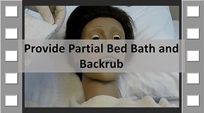 partial bedbath image
