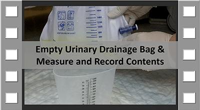 Empty Urinary Drainage Bag CNA Skill
