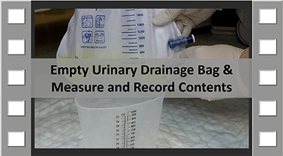 Empty Urinary Drainage Bag CNA Skill