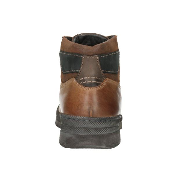 Kožená pánská kotníčková obuv je ideální volbou pro doladění vašeho zimního  stylu na horách i ve městě. Svršek tvoří několik částí v různých odstínech  hnědé ... 7aea5e7879