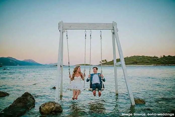 Croatia Beach Wedding couple