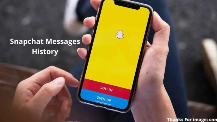 Snapchat messages history