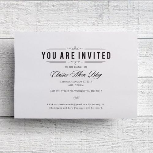 Business Invitation Card