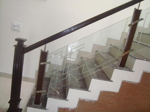 Wood Glass Staircase Railing Wood And Glass Staircase Railing   Staircase Handrails With Wood And Glass   Tempered Glass   Glass Panel   Wooden   Glass Printing   Solid Wood