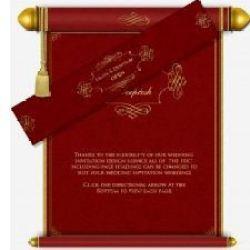 Scroll Wedding Card