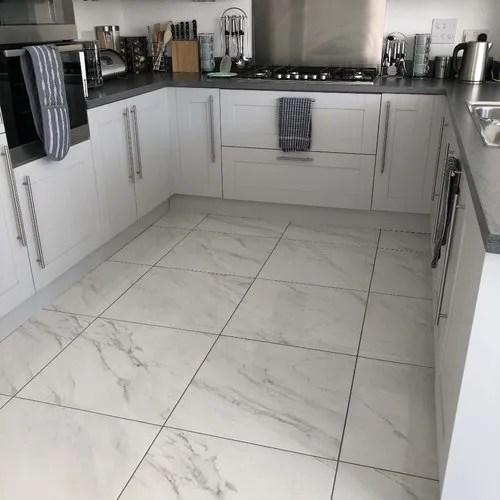 square kitchen floor tile