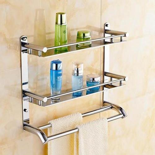 Wall Mounted Stainless Steel Bathroom Corner Shelf, 2, Rs ... on Bathroom Corner Shelf  id=96023