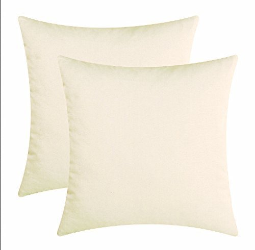 splendid egyptian cotton solid cushion covers ivory 12x12 inches set of 2
