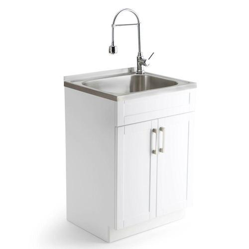 slop utility sink with cabinet