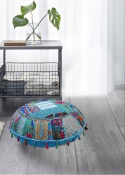 indian 100 cotton decorative floor pillow cover bohemian throw ottoman boho pouf floor cushion cover