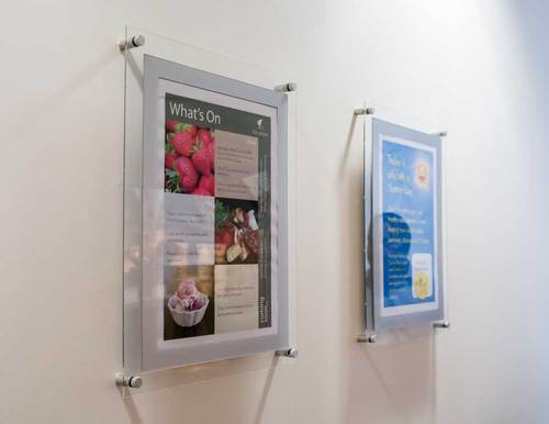 acrylic poster holder wall mounted