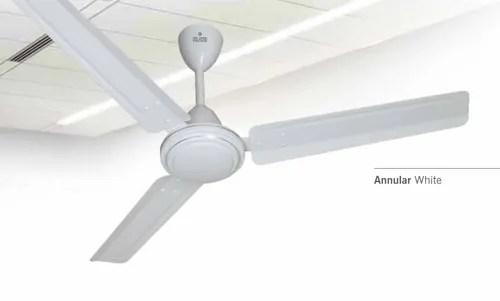 annular white ceiling fan