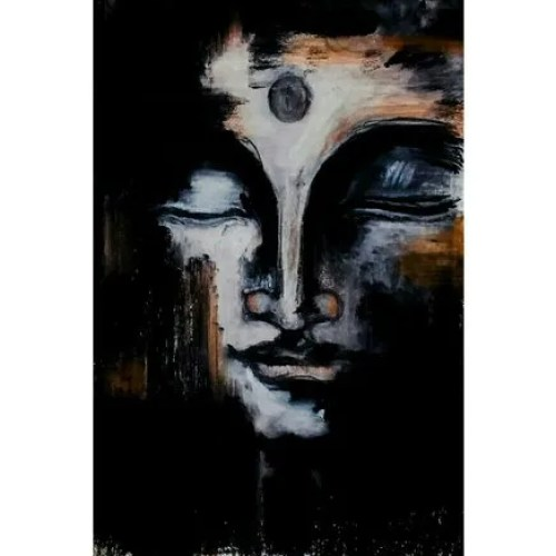 Peace Full Black And White Lord Buddha Painting Size A4 Shape Rectangle Rs 300 Single Id 20852739955