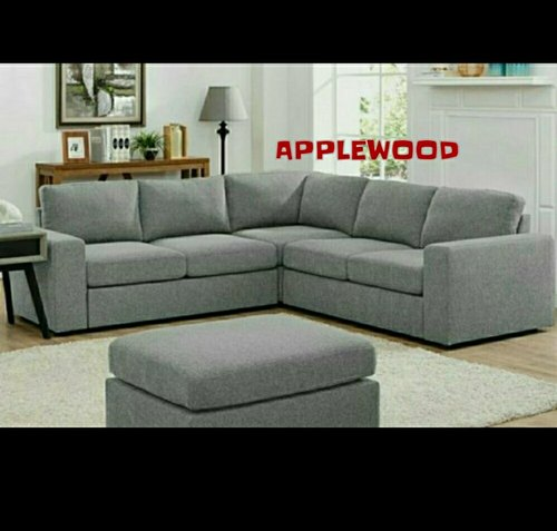 modern grey l shape wooden sofa set