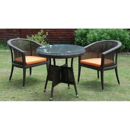 cane patio table and chair set