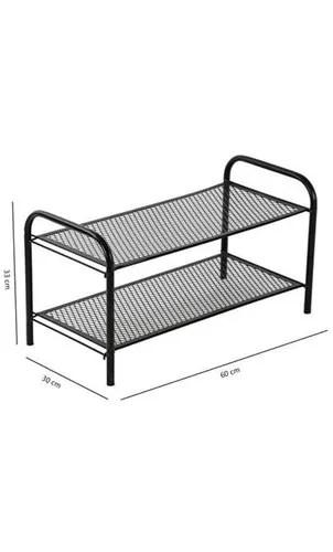 mochen powder coated 2 tier mesh shoe rack metal shoe rack black 2 shelves